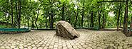 Фотография и панорама камня, упавшего с горы Железной