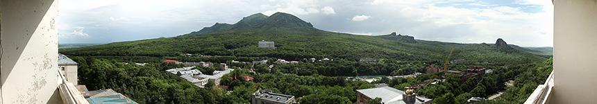 Вид с балкона девятого этажа