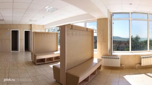 Раздевалка бассейна санатория Горный воздух