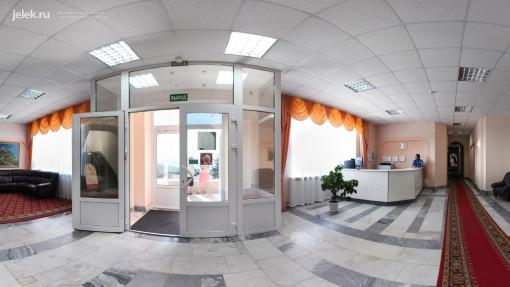 Ресепшн жилого корпуса санатория Горный воздух