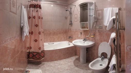 Ванная комната апартаментов санатория Горный воздух