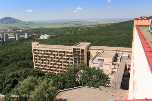 Вид с крыши санатория Горный воздух Железноводск