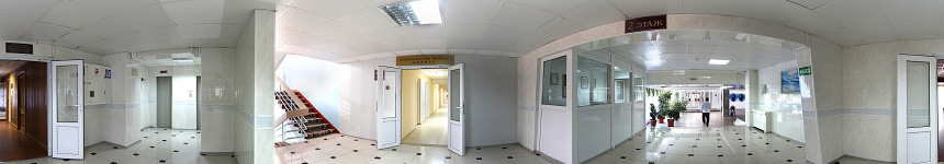 Переход во второй корпус санатория