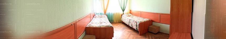 Двухместная палата детского санатория им. Н.К. Крупской