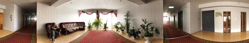 Холл 9 этажа санатория Тельмана